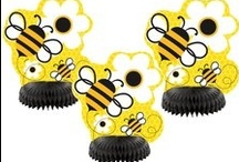 Bumble Bee Party Decorations and Ideas / What's the Buzz? Planning a Bumble Bee Birthday Party or Bumble Bee Baby Shower? We have searched through many blogs and boards for Bee Theme Party Ideas and have added our own Party Zones favorite products to this fun Bee Party Board! Have fun sharing, and creating your own Bee Party!