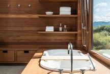 Bathrooms / Modern bathrooms are an essential room in any modern house. Here are plenty of ideas for bathtubs, showers, vanities, mirrors, lighting and bathroom layouts.