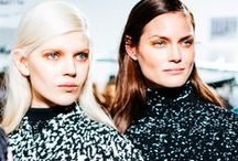 Fall 2014 Fashion Week Beauty / From extreme eyelashes to liquid latex shadow and graphic brushstroke lids, playful above-the-neck statements were the hallmarks of a thoroughly original spirit, and even sleek, stylized ponytails and braids conveyed a sense of purpose.