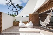 Outdoor Spaces At Home / Cabanas, patios, balconies, backyards and decks...all of the outdoor spaces at home.