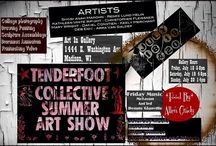 Tenderfoot Art Show / Art In 1444 East Washington. Madison, WI  Gallery Hours:  July 18, 5-8 pm July 19, 4-8 pm. July 20, 1-4 pm.   ARTISTS: Dan Constien, Madison, WI -  Mary Wright, Portage, WI -  Keely Merchant, Madison, WI-   Deb Eide, Spring Green, WI -   Kathleen Wright, South Beloit, IL -   Shoshanah Marohn, Blue Mounds, WI-   Renee Helin, Mt. Horeb, WI.  Arra Van Galder, Rockton, IL  Chris Fleissner, Rockton, IL.  Live music.  Free admission.
