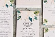 Save the Date / Paper goods for Engagement Parties to Weddings and all the events in between.