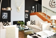 Black & White / Different ways to spice up the classic black and white palate.  / by Kandrac & Kole Interior Designs