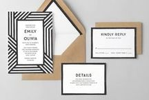 A Black & White Wedding / Decor, signage, and paper goods for a modern black and white wedding.