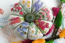 Beautiful Pincushions, cushions  and Pillows / One look at these beautiful stuff and you want to have these beauties. / by Pratima Kapoor