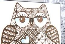 Zentangle / Taking line art to the next level Zentangle will inspire you and add something special to all your crafty projects!  For hours of fun see the full range of books and tool sets at: www.createandcraft.tv
