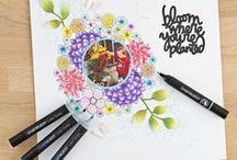 Chameleon Colour Tones Pens / We absolutely love the Chameleon Color Tones Pens here at Create and Craft! They are a revolution in the world of illustration and colour, allowing to you produce beautifully smooth shades from just one pen. Perfect for crafts, art, illustration, design and so much more.   Take a look at them for yourselves on our web page - http://bit.ly/1xh9037