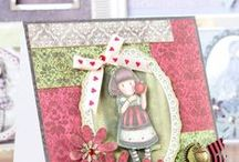 Santoro Gorjuss / Discover the dreamy world of Santoro Gorjuss with its charming doll-like characters that can be translated into the most exquisite craft projects! See the full craft range of Santoro Gorjuss at www.createandcraft.tv
