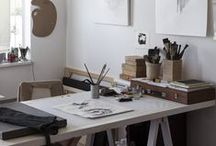 Desk and Workspace