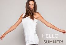 SUMMER 14 /  For summer 2014 there is a sense of lightness-of-being starting with the pared down beautifully succinct color pallet: fossil grey, white and a soft Bermuda blue.  Simplicity is the rule for this collection and the organic relaxed mood is sustained by the designers limited fabric choices where airy casual linen separates dominate the collection. Uncomplicated pull-on-and-go vacation clothes but with the expected twists turns and combination pieces the California designer has become known for.