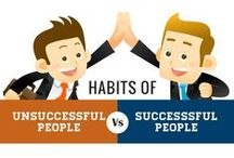 Success Habits / Being successful requires many characteristics. Start by developing the right habits, proper thoughts and never stop personally developing. #success #entrepreneur #selfhelp, #motivation