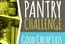 Pantry Challenge / Good Cheap Eats Pantry Challenge. Can you go for 30 days eating out of your pantry and freezer? / by Jessica Fisher