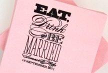 Eat Drink & Be Married typography design 2009 © Orange Beautiful LLC