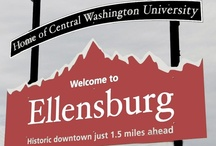 _Cities: Ellensburg WA (and Kittitas County) / Ellensburg is a city in, and the county seat of, Kittitas County, Washington, USA. Ellensburg is located just east of the Cascade Range on Interstate 90 and is known as the most centrally located city in the state. Ellensburg is the home of Central Washington University (CWU). The surrounding Kittitas Valley is internationally known for the timothy-hay that it produces. Downtown Ellensburg has many historic buildings, many of which were constructed in the late 19th century. 46°59′49″N 120°32′42″