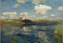 landscape of old Russia