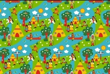 Nicibiene fabric design