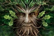 "Green Man / A Green Man is a sculpture, drawing, or other representation of a face surrounded by or made from leaves. Branches or vines may sprout from the nose, mouth, nostrils or other parts of the face and these shoots may bear flowers or fruit. Green Men are frequently found on carvings in churches and other buildings (both secular and ecclesiastical). ""The Green Man"" is also a popular name for English public houses and various interpretations of the name appear on inn signs."