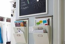 Decorate :: Command Center / The home has a command central. Make sure it's organized and not overrun with paper.