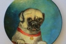 Antique/Vintage DOGS 1 / I love collecting Old dogs , of any form...my personal collection is 80% pug things but I love all Dogs! / by Denise Thompson