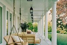 Come Sit A Spell, Porches / The front MAKES the house.  Love a front porch!