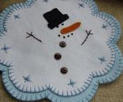 Candle Mats / Wool felt is a great medium to work with.  Love these pretty candle mats.