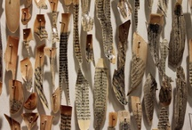 Book-Inspired Art / Works made from books and featuring images of books.