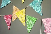 "Bandana Crafts / The Country Gal in me has ""a thing"" about bandanas.  Good inspiration here."