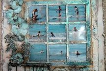 Scrap happy / The most beautiful #scrapbooks #designs, #layouts, and ideas of very artistic creators. Along with #designer #•cards, #invitations, and more. The #crafters behind the work is amazing how they make each one.