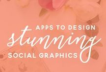 Visual appealing illustrated / graphics tips and tutorials for creating blog graphics, printables, media kits, watermarks, and any type of images for editing or creating in PicMonkey, canva, and converting files