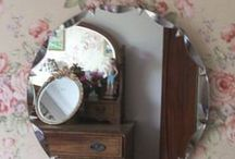 Mirror Mirror On The Wall / Mirrors are fantastic pieces for decorating and also for looking at our outer selves ...they can also give us a insight of our inner selves . Vintage mirrors are my style !! / by Pat Thomas ~ My Vintage Dream