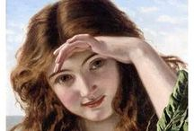 Eyes of the Beholder / in my eyes the paintings are gorgeous !! I love John Waterhouse , Bourguerough , Monet , Tissot, etc  / by Pat Thomas ~ My Vintage Dream