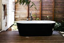 Bathroom, Shower, Bath, Outdoor Shower, Vanity, W.C., Outdoor Bath / by kate mulling
