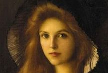 Leighton, Lynch & Buhler / Frederic Leighton, 1st Baron Leighton PRA (3 December 1830 – 25 January 1896), known as Sir Frederic Leighton between 1878 and 1896, was an English painter and sculptor. .......  Albert Lynch (1851–1912) was a Peruvian painter The women of his time were his favorite subject to paint ....Fritz Zuber-Buhler (1822 – November 23, 1896) / by Pat Thomas ~ My Vintage Dream