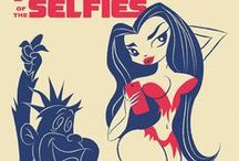 PLANET OF THE SELFIES / PLANET OF THE SELFIES - Nova sightseeing in the Planet of Selfies. A tribute to Planet of the Apes & Hannah Barbera cartoons. This is part of GROOVY FLIPSIDE: a mashup of American pop culture icons. / by Koldo's Groovy Flipside