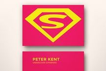SUPERHERO BUSINESS CARD TEMPLATES / You already know you're a superhero. Now you can share it with the world with these unique business/name cards. Pass them out when you meet new people, share them with your friends. So cool, they can't help but keep you around. / by Koldo's Groovy Flipside
