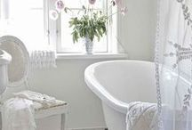 Bath - vintage charm / Vintage style bathroom is something I always liked.. Clean yet not so sterile look with a touch of mystery hidden in antique and vintage pieces.