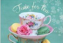 Tea Time / tea cups, saucers, spoons etc.