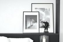 HOME | gray, black + white decor / Interior decoration in gray, black, and white.   A clean, simple and modern look for any beautiful home with all shades of grays, elements of black and white walls. Find all your decor dreams with style accents, decorating tips and art.