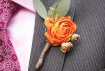 Boutonnieres  / Boutonniere inspiration for planning couples! / by BloomsByTheBox.com