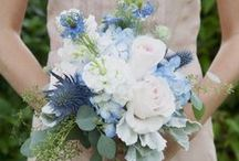 Blue Wedding Flowers / by BloomsByTheBox.com