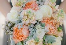 Peach Wedding Flowers / by BloomsByTheBox.com