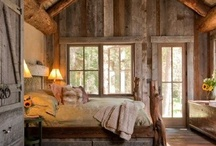 "Cabin Decor / Inspiration Photos for some of the Cabin Projects we are working on. LOVE this type of living. There is a space and place for relaxation & whimsy in a cabin that we rarely create in our ""serious"" homes... Happy Cabin!"