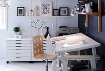 Home inspiration: office / Ideas how to decorate my new office/studio
