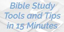 """FOCUSed15 Podcast / BIBLE STUDY TOOLS AND TIPS IN 15 MINUTES The FOCUSed15 podcast is full of Bible study tools and tips in 15 minute episodes. From, """"How do I maintain consistency in my Bible study?"""" and """"Should I be using commentaries?"""" to, """"What do I need to know about the Gospel of Matthew?"""" Chris and Katie Orr will answer your questions about Bible study."""