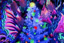Blacklight Christmas Deco / Individual Blacklight and Neon Christmas Decoration.