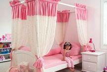 decoração de quartos de menina.