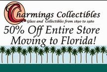 Charmings Vintage Glass & Collectibles / Charmings specializes in antique and vintage glass and other collectibles including pottery, kitchen items, china and porcelain and vintage home decor. / by Charmings Vintage Glass and Collectibles