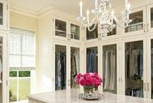 Custom Closets / Custom walk-in closets and wardrobes with luxurious layouts and features.