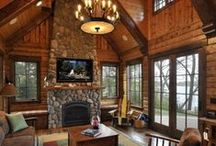 Luxury Log Cabin Homes / Luxurious mountain retreats and cozy cabin design inspirations.
