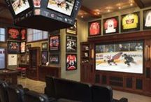 Ultimate Man Cave / Fun man cave decor and design. Sports rooms, game rooms, and garage ideas.